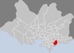 Location of Buceo in Montevideo
