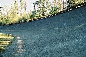 Autodromo Nazionale Monza - The Pista di Alta Velocità banking, 2003.