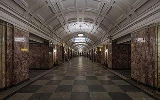 Belorusskaya (Zamoskvoretskaya line) - Image: Mos Metro Belorusskaya ZL img 3 asv 2018 01