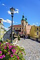 Most gotycki z kościołem i klasztorem w tle - Kłodzko.jpg
