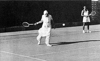 Mirra Alfassa - Mirra Alfassa playing tennis