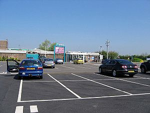 Grantham North services - The main services building