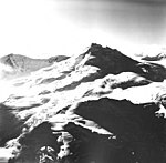 Mount Spurr, bergschrund on upper portions of the mountain, August 22, 1968 (GLACIERS 6485).jpg