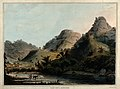 Mountains at Ramgherry, near Mysore, Karnataka. Coloured aqu Wellcome V0050507.jpg