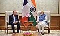 Mr. Pierre Gattaz, President (Mouvement des Entreprises de France), calls on the Prime Minister, Shri Narendra Modi, in New Delhi on September 26, 2017.jpg