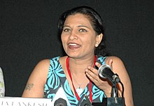 Ms Kavita Lankesh, (Director) addressing a press conference at Black Box, Kala Academy during the 37th International Film Festival (IFFI-2006) in Panaji, Goa on November 25, 2006.jpg