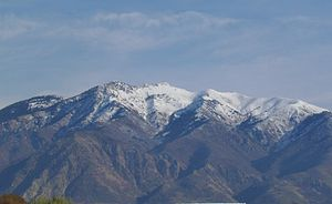 Mount Ogden - Mt. Ogden from the west