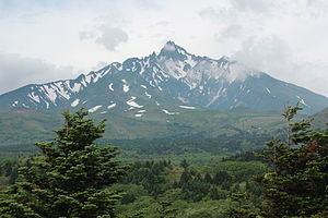 Mount Rishiri - Mount Rishiri seen from the Otadomari-numa viewpoint