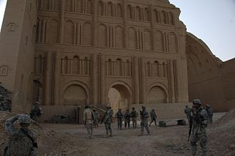 Salman Pak - Multi-National troops tour Salman Pak's famous Taq Kasra, the largest single-span vault of unreinforced brickwork in the world and the only visible remaining structure of the ancient city of Ctesiphon