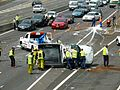 Multi vehicle accident - M4 Motorway, Sydney, NSW (8076148400).jpg