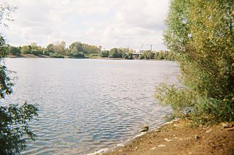 Mulyanka River - View of Mulyanka River from the beginning of Parkovy Avenue