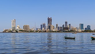 Worli - Image: Mumbai 03 2016 10 skyline of Lotus Colony