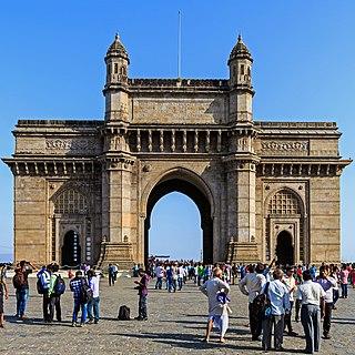 Gateway of India Arch-monument in Mumbai, India