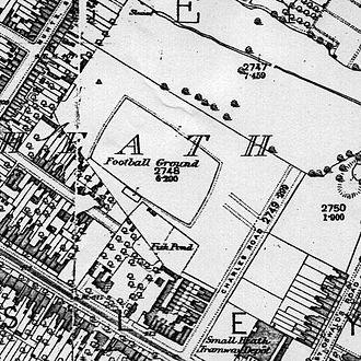 History of Birmingham City F.C. (1875–1965) - Muntz Street and surroundings in 1890