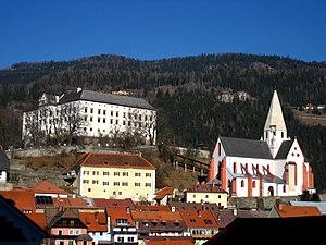 Murau - Murau Castle and St Matthew's parish church