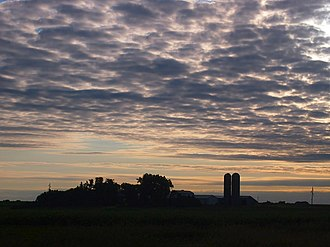 Murray Township, Murray County, Minnesota - A cloudy dawn over Murray Township