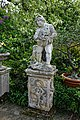 Myddelton House, Enfield, London ~ lake terrace pedestal statue 01.jpg