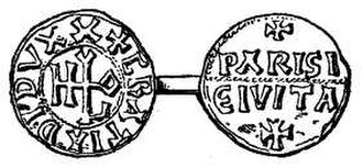 "Hugh Capet - A denier of Hugh Capet when he was Duke of France, calling him ""duke by the grace of God"" (Dux Dei Gratia). Minted at Paris (Parisi Civita)"