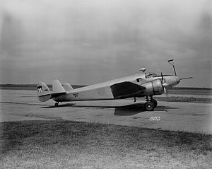 Lockheed Model 12 Electra Junior - NACA's Lockheed 12A used for deicing testing