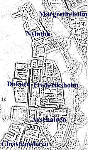 Holmen naval base - Map of Holmen today