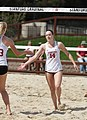 NCAA beach volleyball match at Stanford in 2017 (33303349971).jpg