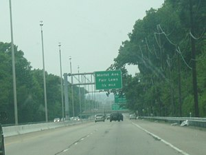 Northbound New Jersey Route 208 1/4 mile from ...