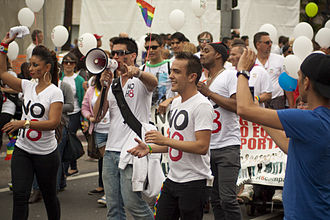 NOH8 Campaign - NOH8 Campaign at the Los Angeles LGBT pride parade in 2011