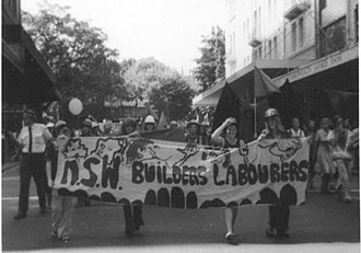 International Women's Day - Female members of the Australian Builders Labourers Federation march on International Women's Day 1975 in Sydney