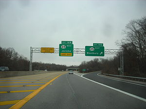 New York State Route 135 - NY 135 at exit 14E in Syosset