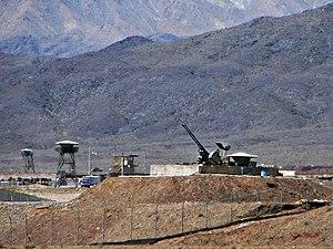 anti-aircraft guns guarding Natanz Nuclear Fac...