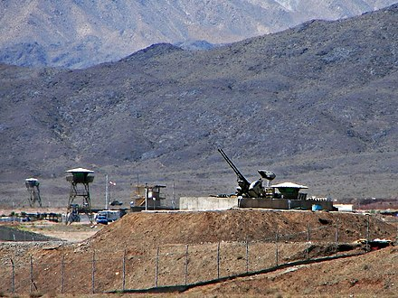 Anti-aircraft guns guarding Natanz Nuclear Facility in Iran Natanz nuclear.jpg
