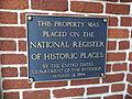 National Register of Historical Places Plaque at Valdosta Carnegie Library.JPG