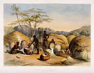 Women in brewing - Native South African women brewing beer by their huts