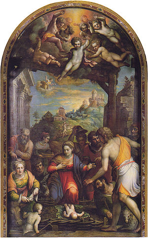 Lattanzio Gambara - Birth of Christ.