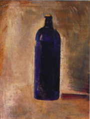Nature morte with bottle