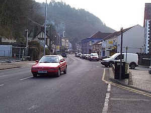 Briton Ferry - Image: Neath Road, Briton Ferry geograph.org.uk 127633