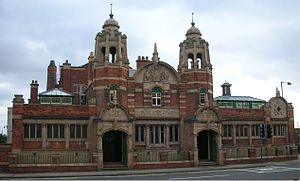 Benjamin Creswick - Nechells Swimming Baths – the central coat of arms is by Creswick