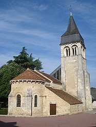 The Church of Saint-Laurent, in Neuvy-Pailloux