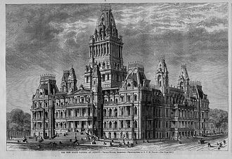 New York State Capitol - Interim plan for the Capitol by Thomas Fuller