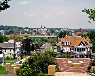 New Britain, Connecticut - Looking north from Walnut Hill Mansion