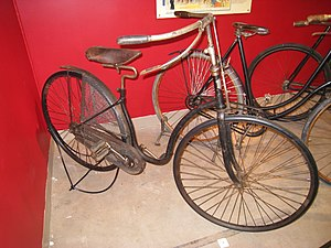 Bicycle tire - New Mail Ladies Safety bicycle, circa 1891, with solid rubber tires