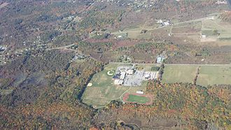New Paltz High School - Aerial view of New Paltz High School at an altitude of 3,500 feet. MSL