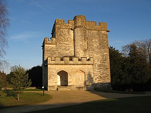 Newton St Loe Castle - View of the west, entrance, side