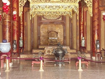 Throne in Thai Hoa place