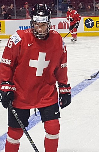 Nico Hischier - Hischier at the 2017 World Junior Championships.