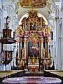 Niederaltaich Klosterbasilika St. Nikolaus Innen Chor 3.JPG