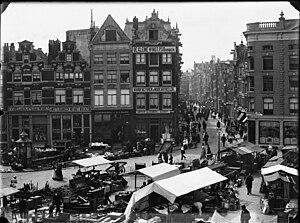 Nieuwmarkt - Nieuwmarkt in 1890