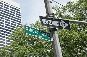 Serbian Americans - Nikola Tesla Corner in New York City