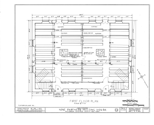 Nine Partners Meetinghouse, State Route 82 Vicinity, Millbrook, Dutchess County, NY HABS NY,14-MILB,1- (sheet 1 of 8).png