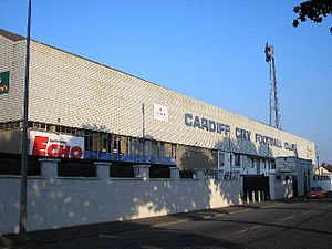 The front of Ninian Park in 2005 Ninian Park Cardiff.jpg